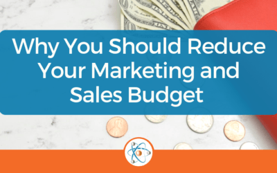 Why You Should Reduce Your Marketing and Sales Budget